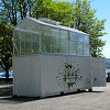 The Urban Farmers box created plenty of interest in Zurich