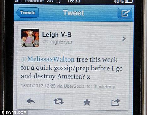 Tweet on destroy